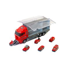 Hračka kamión+hasičské autá 6ks COOL TEAM