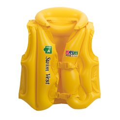 Nafukovačka detská plávacia vesta L 12-25kg YELLOW