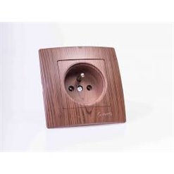 Jednozásuvka MAKEL tmavé drevo 32102173