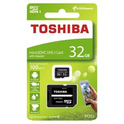 Karta micro SD+adaptér 32GB class10 TOSHIBA M203