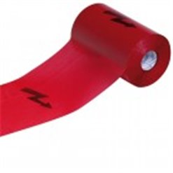 Fólia výstražná 300mmx100m červená BLESK