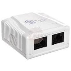 Zásuvka nástenná ISDN 2xRJ45 Cat5e DN-93804-1