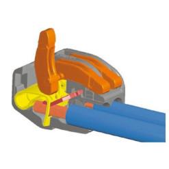 Vidlica+zásuvka spojovacia 230V IP44 orange ZP-H2