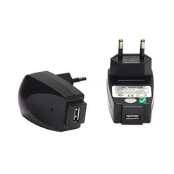 Adaptér USB 230V/5V 1000mAh čierny DC02