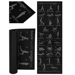Podložka na cvičenie JOGY 6mm 173x61cm čierna