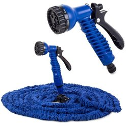 Hadica na vodu flexibilná+pištol 10-30m modrá
