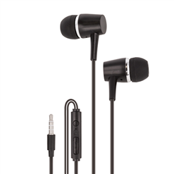 Slúchadlá do uši MAXLIFE MXEP-02 čierne s mikrof.