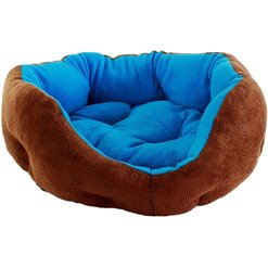 Pelech pre psa a mačku 38x33cm modro/hnedý PE38MH