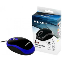 Myš optická drôtová BLOW MP-20 modrá