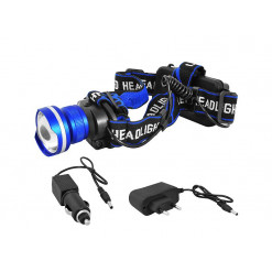 Svietidlo LED čelovka ACCU 8W LTC LXLL46 600lm