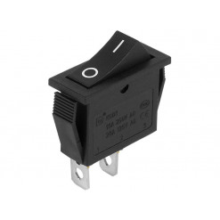 Vypínač kolískový 250V/10A (ON)-OFF čierny H8601VB