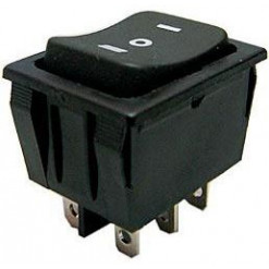 Vypínač kolískový 250V/15A (I)-0-(II) BK RS-201