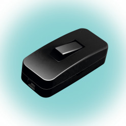 Vypínač medzišnúrový 230V/4A NV1K/BK čierny